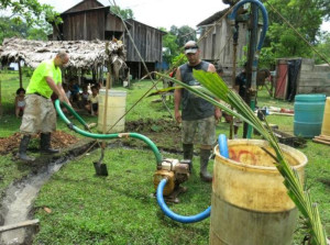 Drilling the well… muddy business!