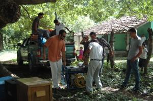Preparing for the event at Valle de la Cruz