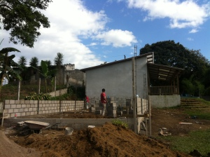 Starting construction of the two new classrooms