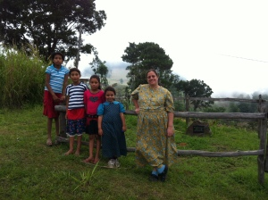 Noelia, Ruth, and Rene and Oneida's girls, our neighbors in Carrizal