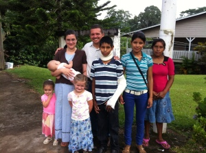Yoder's and Rene's families from Carrizal.