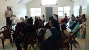 Worship service at brother David Yoder up in Siguatepeque