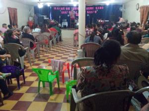 Preaching at Assemblies of God Congregation in Tambla, Lempira.  December 31, 2015