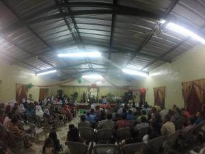 Preaching at El Tigre a village near El Eden.