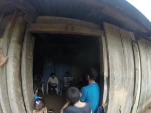 Teaching God's Word to believers in Adan's house near Yure.