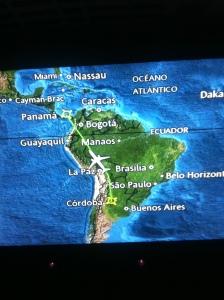 Flying back to Honduras