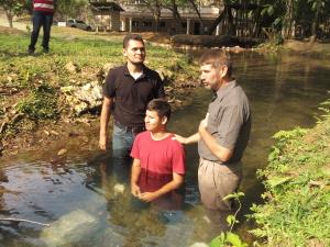 Samuel's baptism