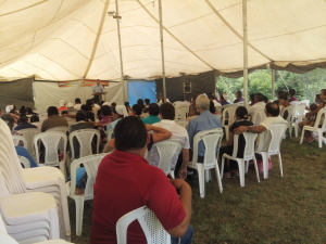Tent meetings in La Tigra, Siguatepeque.