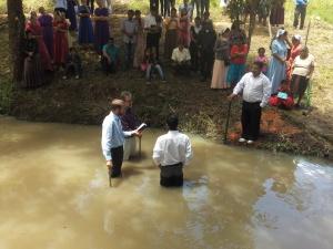 La Tigra, Siguatepeque. Enrique's baptism