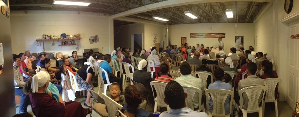 Preaching in La Tigra, Siguatepeque