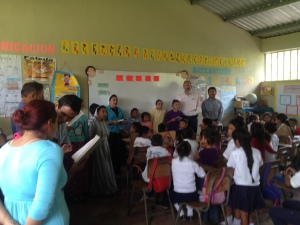 Sharing at La Laguna school