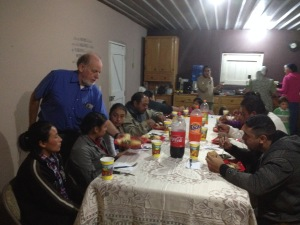 Brother John serving the clinic staff and their families.