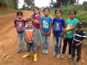 with the children in Carrizal